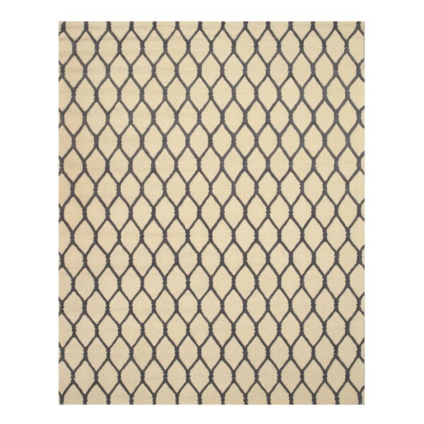 Hand-Tufted Beige Area Rug by Meridian Rugmakers