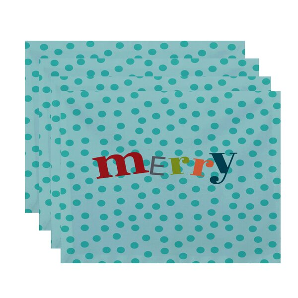 Merry Dot Word Print Placemat (Set of 4) by The Holiday Aisle