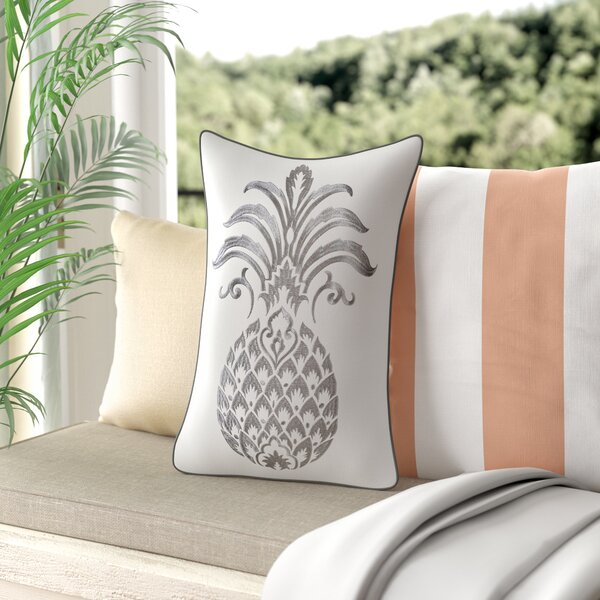 Java Pineapple Decorative Cotton Lumbar Pillow by