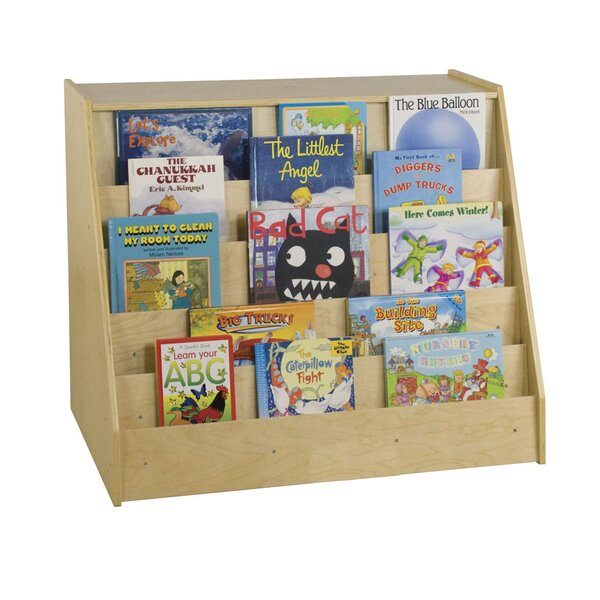 Book Display Double Sided with Storage by Offex