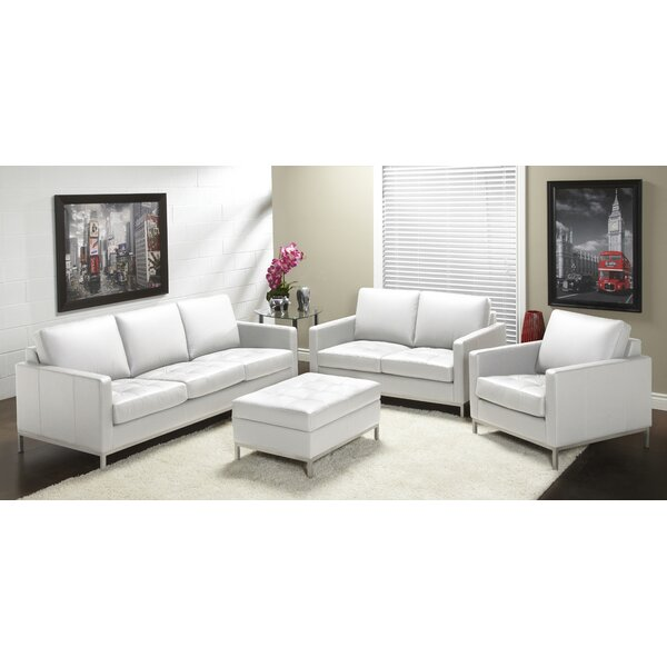 Lind Furniture 244 Series Leather Configurable Living Room Set Reviews Wayfair