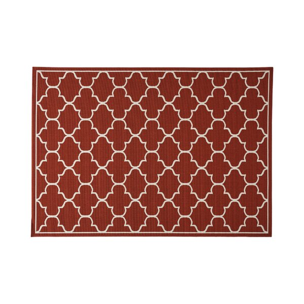 Hennessey Geometric Red Indoor/Outdoor Area Rug By Alcott Hill