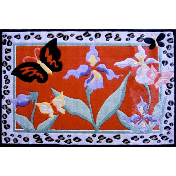 Jade Reynolds Irises Flower Kids Rug by Fun Rugs
