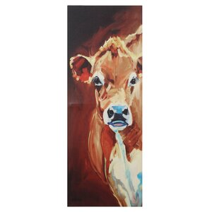 Cow Painting Print on Canvas by August Grove