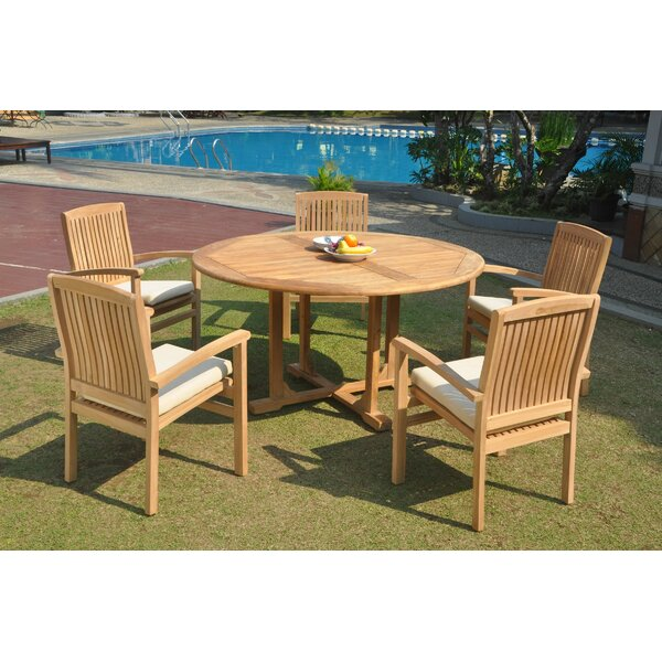 Paloalto 6 Piece Teak Dining Set By Rosecliff Heights