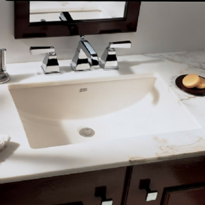 Studio Ceramic Rectangular Undermount Bathroom Sink With Overflow