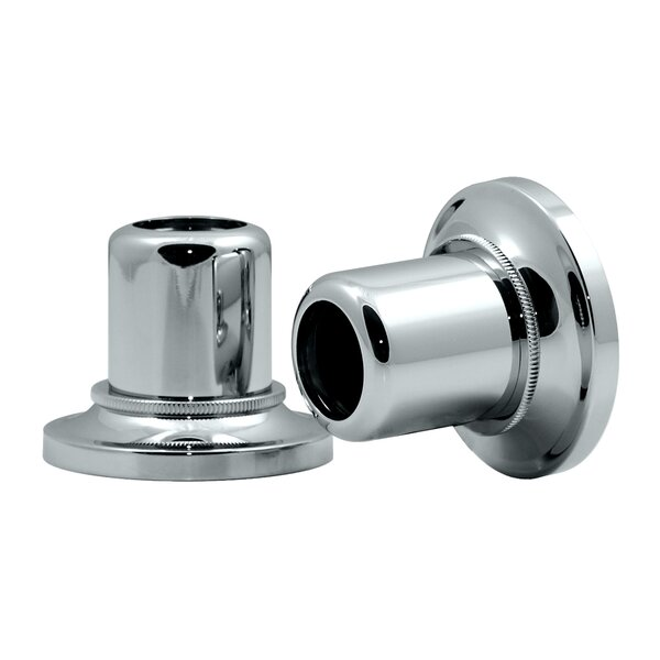 Tiara Wall Flange Pair in Chrome (Set of 2) by Gatco