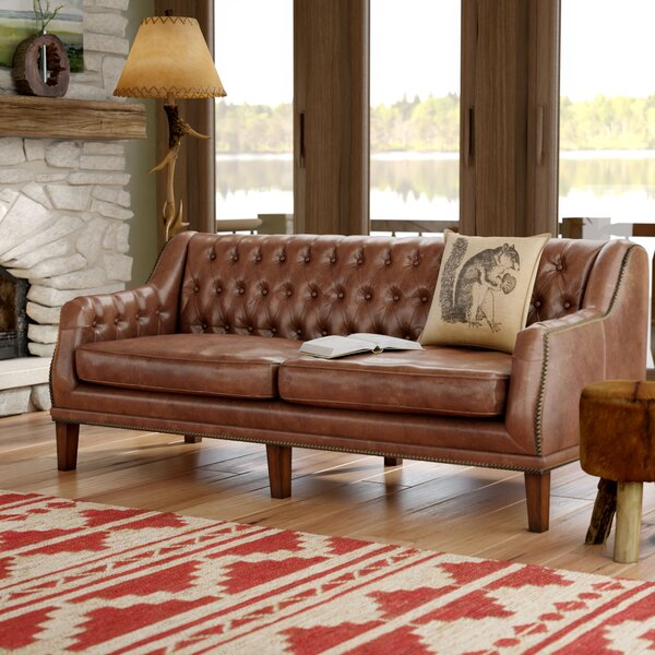 Allyssa Leather Sofa By Mistana Great Reviews