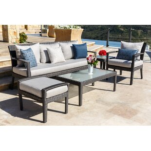 Beam 5 Piece Sunbrella Sofa Seating Group with Cushions by Brayden Studio