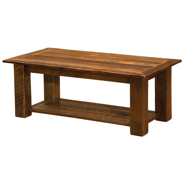 Barnwood Open Coffee Table By Fireside Lodge