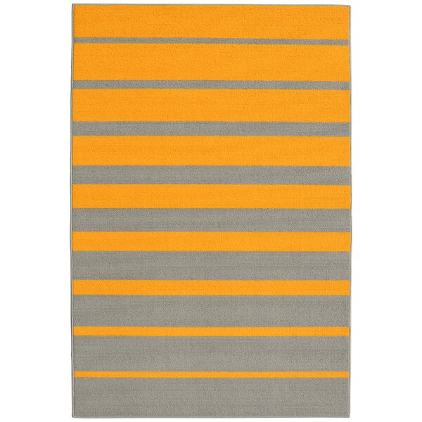 Stair Steps Gold/Silver Area Rug by Garland Rug