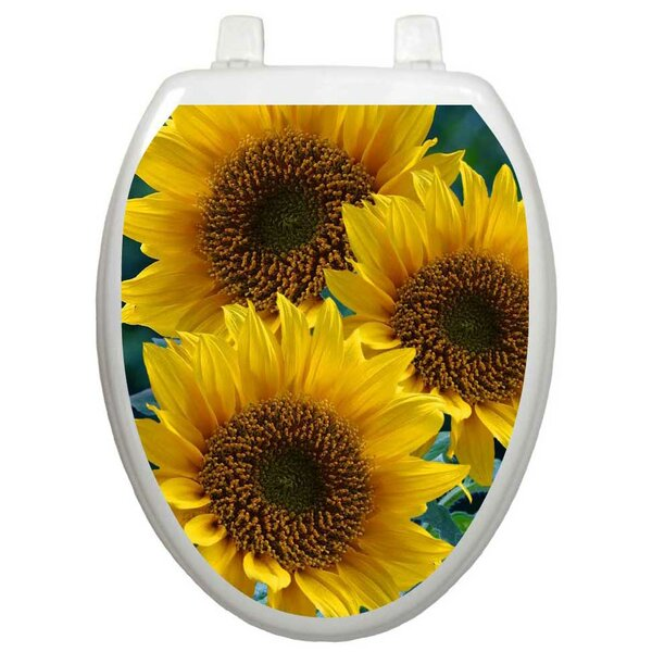 Themes Sun Kissed Sunflowers Toilet Seat Decal by Toilet Tattoos