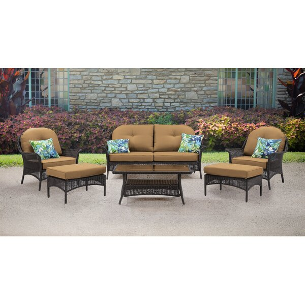 Dominquez 6 Piece Rattan Sofa Seating Group with Cushions by Darby Home Co Darby Home Co