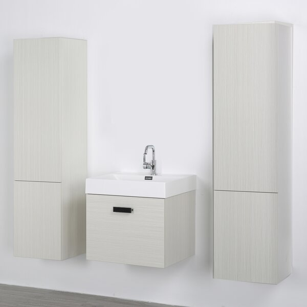 24 Wall-Mounted Single Bathroom Vanity Set by Streamline Bath