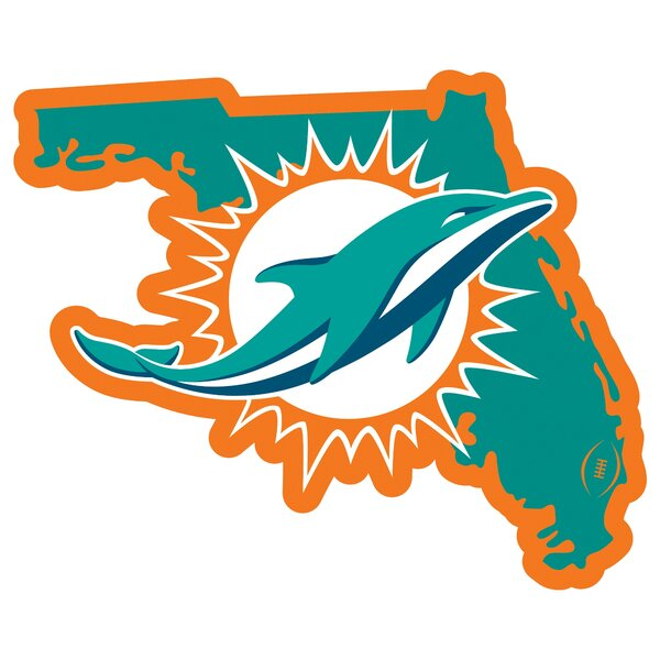 NFL Miami Dolphins Home State Magnet by Siskiyou Products