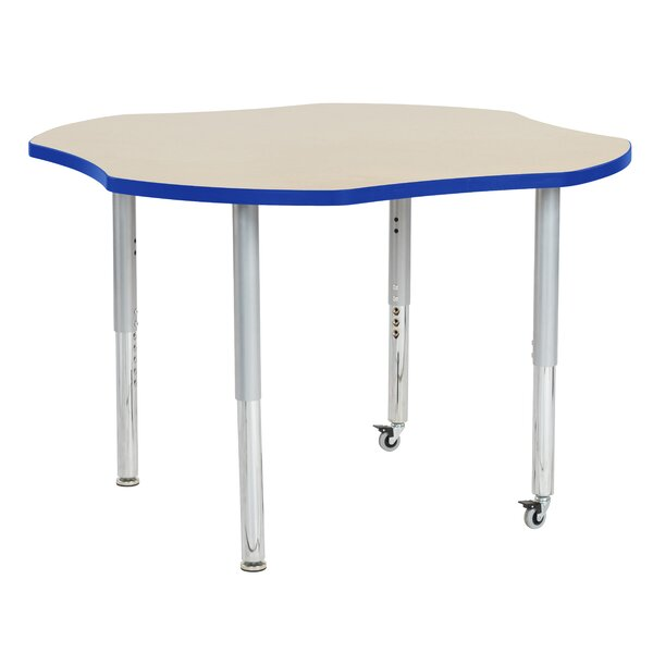 Maple Top Clover Thermo-Fused Adjustable 48 x 48 Novelty Activity Table by ECR4kids