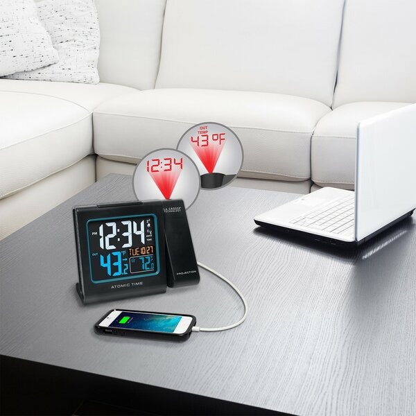 Projection Alarm Tabletop Clock by Symple Stuff