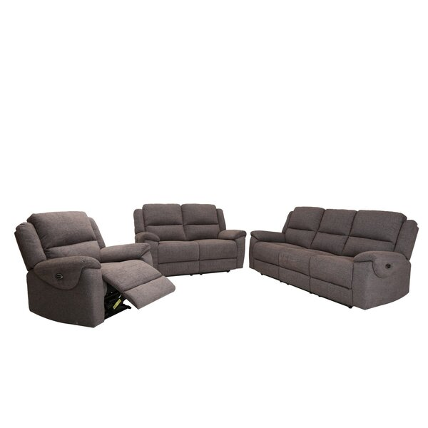 Jaya 3 Piece Reclining Living Room Set by Latitude Run