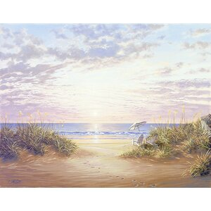 'Strubel Paradise Dawn' Painting Print on Wrapped Canvas by Highland Dunes