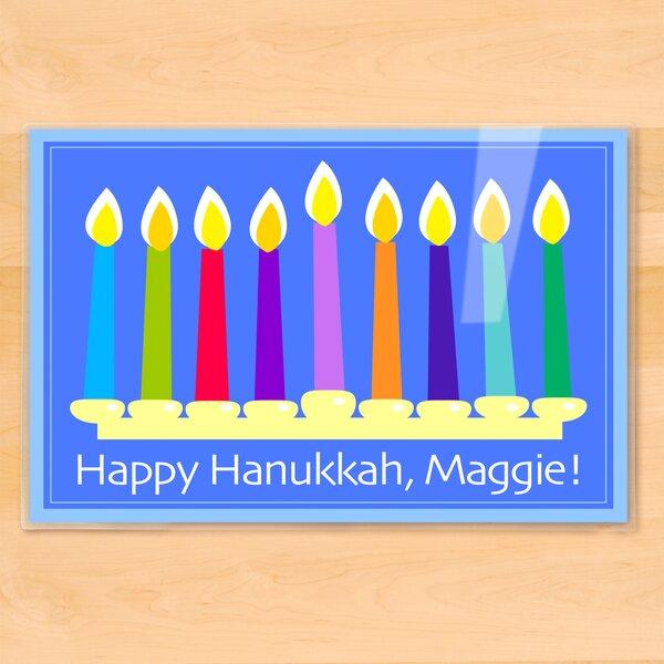 Hanukkah Menorah Personalized Placemat by Olive Kids