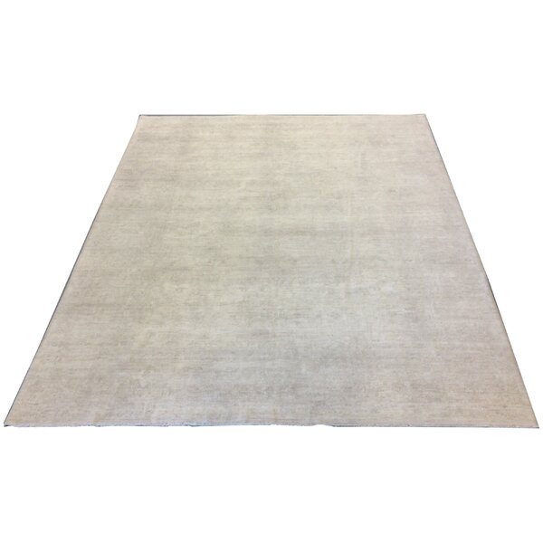 One-of-a-Kind Luzerne Hand-Knotted Wool Sand Neutral Area Rug by Astoria Grand