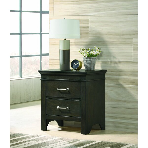 Cavedon 2 Drawer Nightstand by Winston Porter