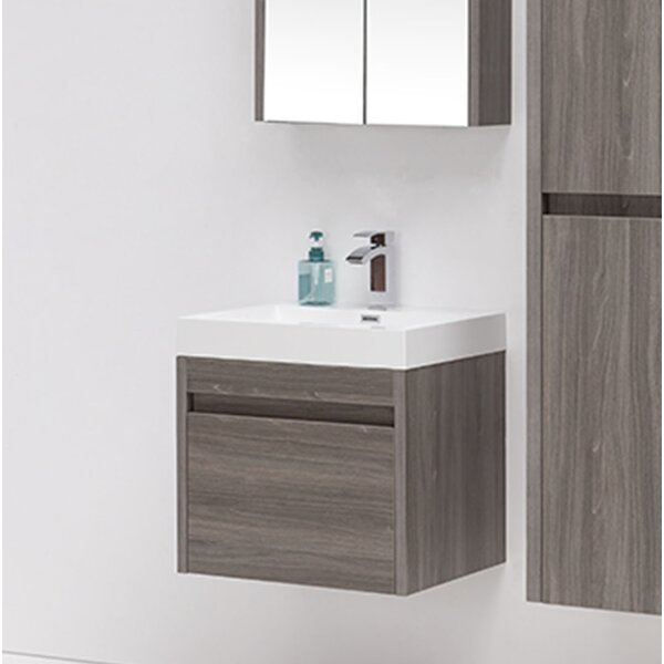 Rosas Modern 24 Single Bathroom Vanity Set by Wrou