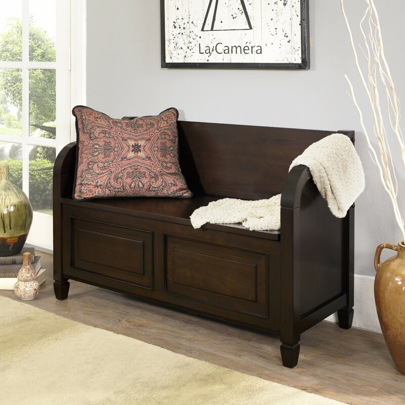 Simpli Home Connaught Wood Storage Bench & Reviews