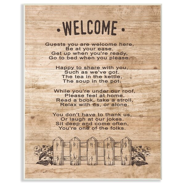 Guests Are Welcome Here Textual Art by Stupell Industries
