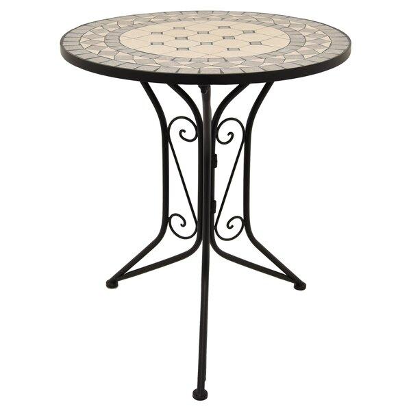Granado Metal Bistro Table by Fleur De Lis Living