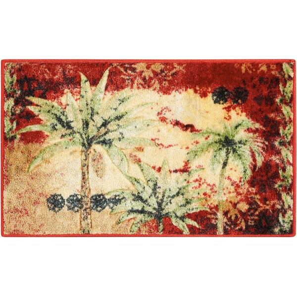 Edmonton Accent Décor Beige/Red Area Rug by Bay Isle Home
