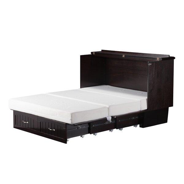 Graham Queen Storage Murphy Bed with Mattress by Beachcrest Home