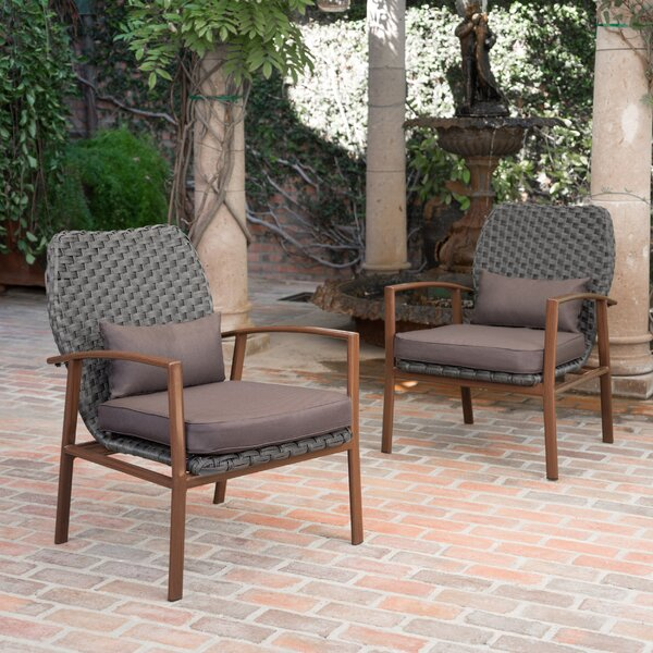 Zaanstad Outdoor Club Patio Chair With Cushions (Set Of 2) By Mistana
