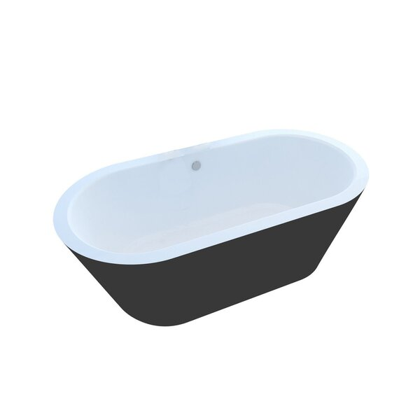 Little Key 64.7 x 31.37 Freestanding One Piece Soaking Bathtub with Center Drain by Spa Escapes