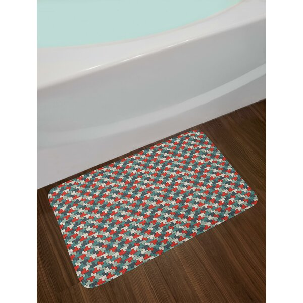 Repeating Puzzle Abstract Bath Rug by East Urban Home
