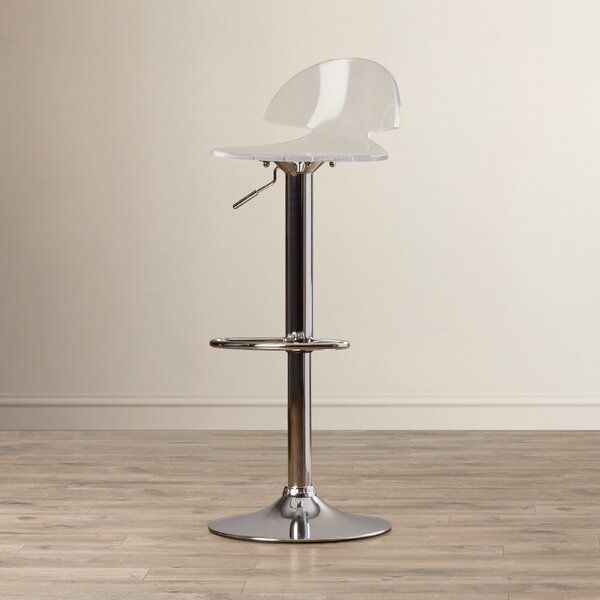 Pacheco Adjustable Height Swivel Bar Stool by Wade Logan