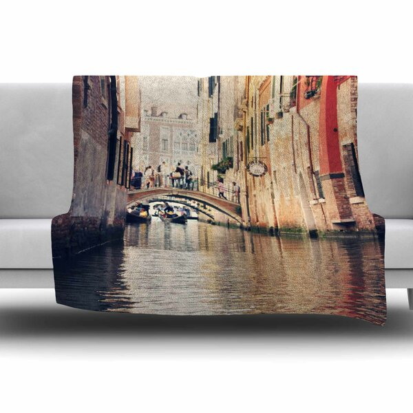 Venice 10 by Sylvia Coomes Fleece Blanket by East Urban Home