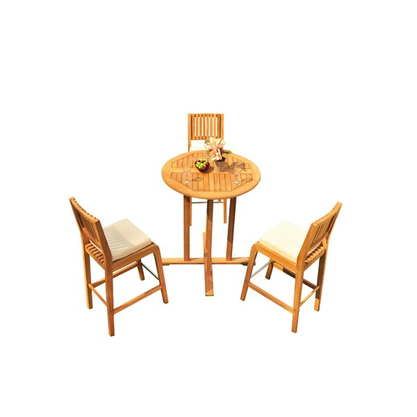 Mastin 4 Piece Teak Dining Set by Rosecliff Heights