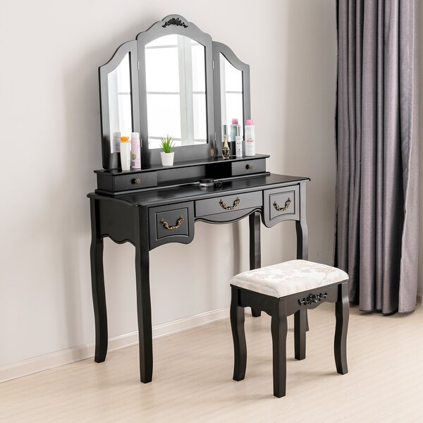Hannigan Vanity Set with Mirror by House of Hampton