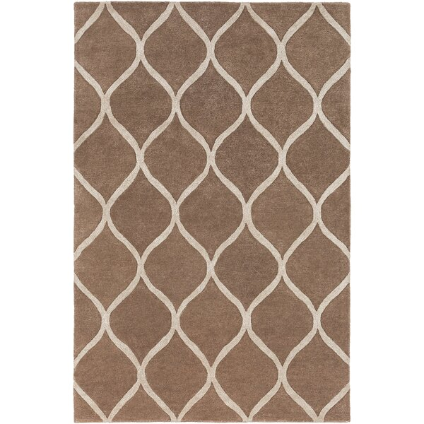 Bronaugh Hand-Tufted Brown Area Rug by Greyleigh