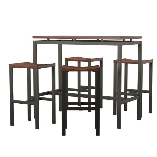 Mcgonigal 5 Piece Bar Height Dining Set By Mercury Row