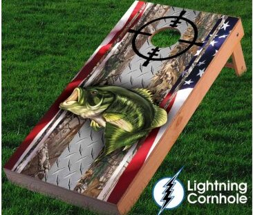 Large Mouth Bass Cornhole Board by Lightning Cornhole