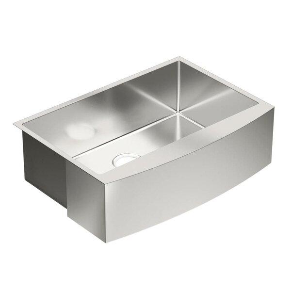 1800 Series 30 L x 21 W Single Bowl Kitchen Sink by Moen