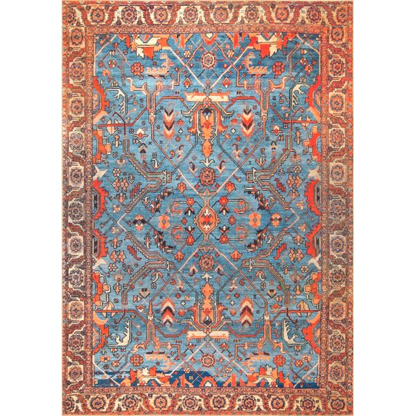 Fehr Blue Area Rug by Bungalow Rose