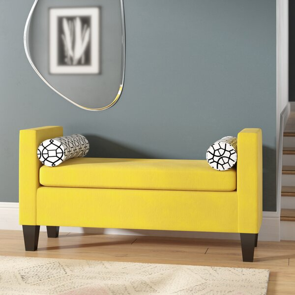 Johnone Upholstered Bench by Ebern Designs