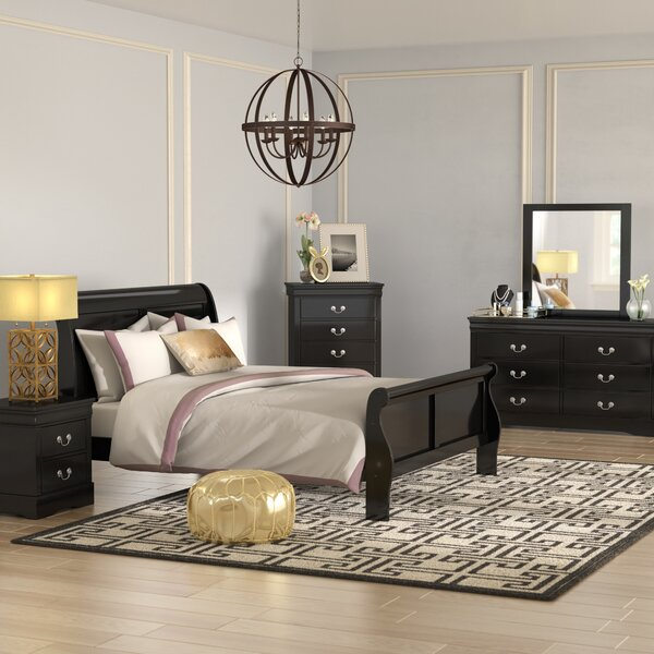 Larrabee Queen Sleigh 4 Piece Bedroom Set by Alcott Hill