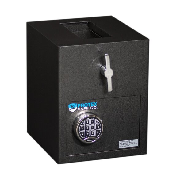 Mini Rotary Hopper Depository Safe with Electronic Lock by Protex Safe Co.