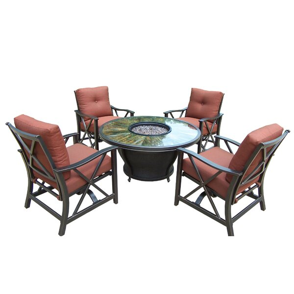 Valery 5 Piece Seating Group with Cushions by Charlton Home