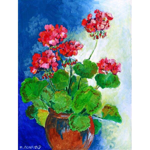 Geraniums by Maureen Bonfield 2-Sided Garden Flag by Caroline's Treasures
