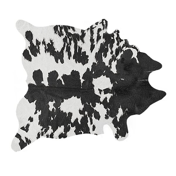 Faux Cowhide Black/White Area Rug by Luxe